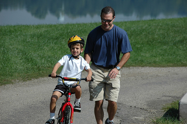 learning to bike